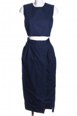 Victoria Beckham Vestido cut out azul look casual