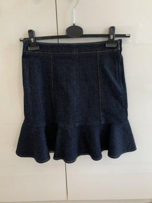 Victoria Beckham Jupe en jeans bleu foncé