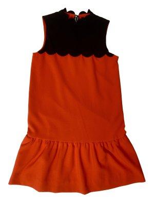 Victoria Beckham Robe courte orange fluo-noir polyester
