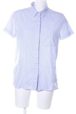 Victoria Beckham Kurzarm-Bluse blau Business-Look