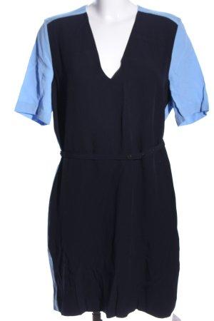 Victoria Beckham Kurzarmkleid schwarz-blau Casual-Look