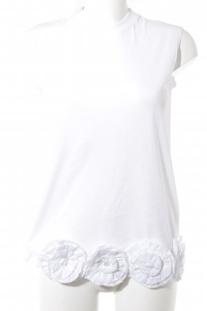 Victoria Beckham Top long blanc style simple