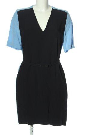 Victoria Beckham Midikleid schwarz-blau Casual-Look