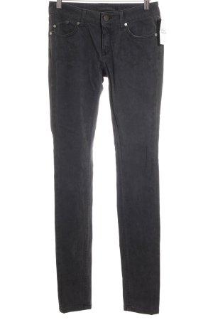 Victoria Beckham Jeans cigarette gris foncé-noir