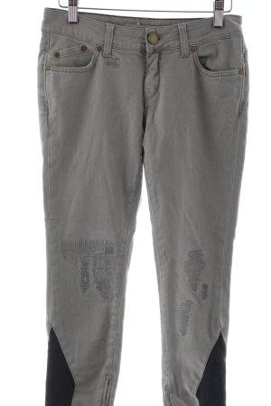 Victoria Beckham Jeans cigarette gris clair style décontracté