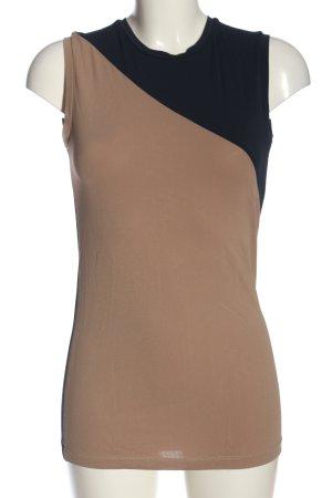 Victoria Beckham Schlupf-Bluse braun-schwarz Casual-Look