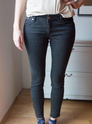 Victoria Beckham Skinny Jeans Glitzerdetail Gr. 29 bzw. 38/40
