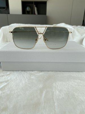 Victoria Beckham Angular Shaped Sunglasses gold-colored-green grey