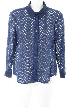 Victoria Beckham Spitzenbluse blau Business-Look
