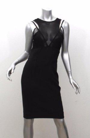 Victoria Beckham Robe mi-longue noir soie
