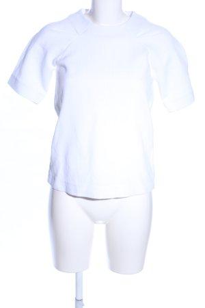 Victoria Beckham U-Boot-Shirt weiß Business-Look