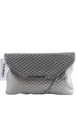 Victoria delef Pochette gris foncé motif de courtepointe élégant