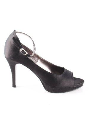 Victoria delef Peeptoe Pumps schwarz Elegant