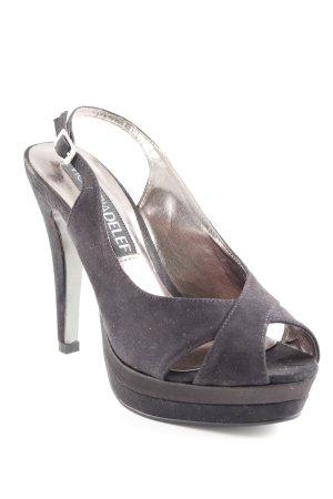 Victoria delef Sandales à talons hauts et plateforme noir élégant