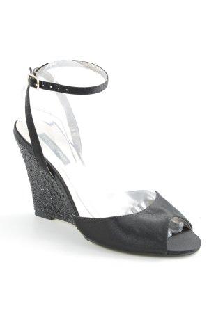 Victoria delef Wedges Sandaletten schwarz Elegant