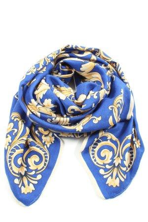 Victoria Mouchoir de poche bleu-crème imprimé allover style décontracté