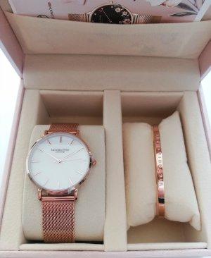 Victoria Hyde Horloge met metalen riempje wit-roségoud