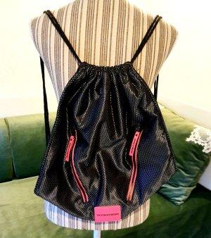 Victoria's Secret Beutel Tasche Rucksack Beutel schwarz anthrazit pink
