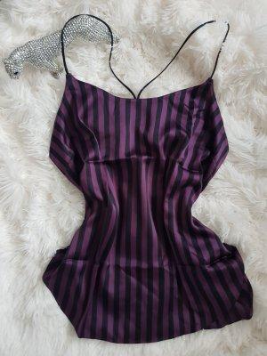 Victoria's Secret Haut à fines bretelles noir-violet foncé