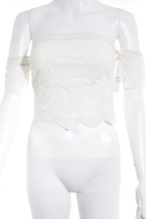 Victoria's Secret Cropped Top creme Boho-Look