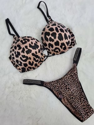 Victoria's Secret Glitzer Dessou Set 32D + S
