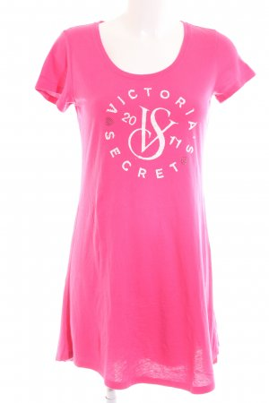 Victoria's Secret Hauskleid pink-weiß Schriftzug gedruckt Casual-Look