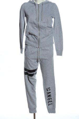Victoria's Secret Twin set in jersey grigio chiaro-nero puntinato stile casual