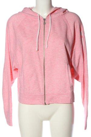 Victoria's Secret Kapuzensweatshirt pink-hellgrau Streifenmuster Elegant