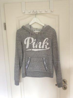 Pink Victoria\u2019s Secret Hooded Sweater light grey,white