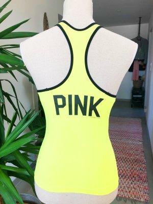 Pink Victoria's Secret Canotta sportiva giallo Nylon