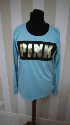Pink Victoria's Secret Bluza dresowa czarny-złoto