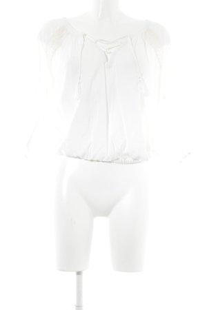 Victoria's Secret Schlupf-Bluse wollweiß Country-Look