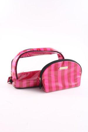 Victoria's Secret Schminkkoffer pink-rot Streifenmuster Casual-Look