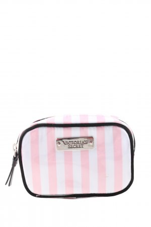 Victoria's Secret Borsa porta trucco bianco-rosa stampa integrale stile casual