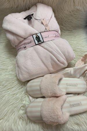 Victoria's Secret Set Bademantel und Hausschuhe rosa