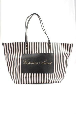 Victoria's Secret Shopper zwart-wit gestreept patroon casual uitstraling
