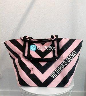 Victoria's Secret Borsa shopper nero-rosa pallido Cotone