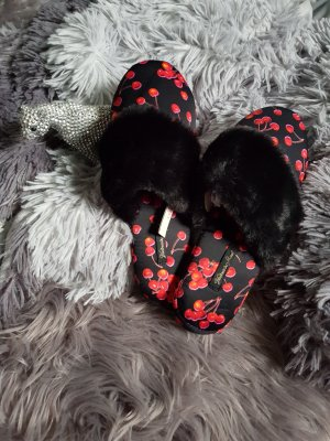 Victoria's Secret Pantoffels zwart-baksteenrood