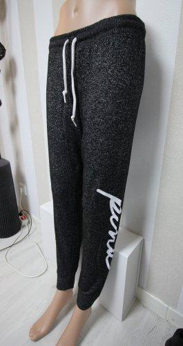Pink Victoria's Secret Spodnie sportowe biały-szary