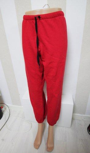 Pink Victoria's Secret Spodnie sportowe czarny-czerwony