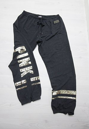Victoria's Secret Pantalone da ginnastica oro-grigio scuro
