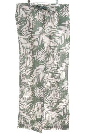 Victoria's Secret Stoffhose grün-weiß Allover-Druck Casual-Look
