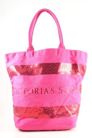 Victoria's Secret Bolso de tela rosa letras impresas look casual