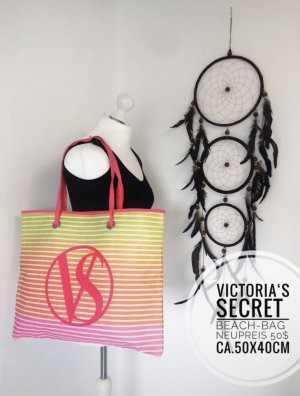 Victoria's secret Strand Tasche Beach Urlaub blogger vintage boho pink