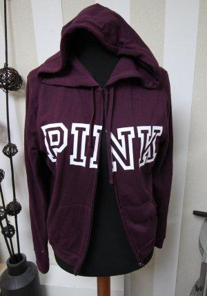 Pink Victoria's Secret Sweat Jacket white-purple