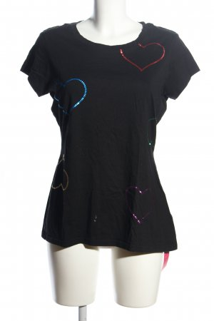 Victoria's Secret T-Shirt schwarz Motivdruck Casual-Look