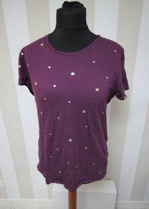 Pink Victoria's Secret T-shirt złoto-purpurowy