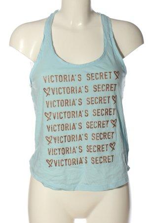 Victoria's Secret Tanktop türkis-goldfarben Schriftzug gedruckt Casual-Look