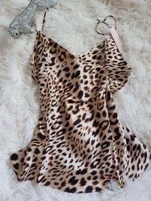Victoria's Secret Canottiera bianco-bronzo Seta