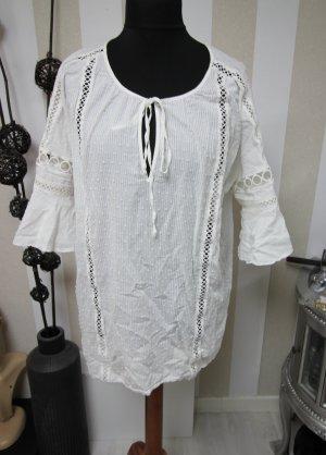 Victoria's Secret Camisa tipo túnica crema-blanco